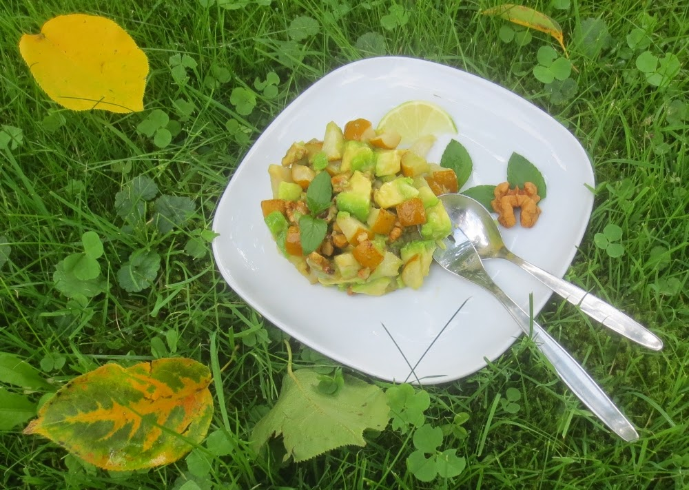 Avocado-Birnen-Dessert