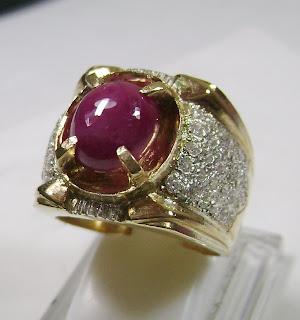 Cincin Batu Permata Ruby Birma