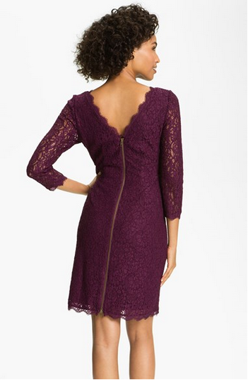 adrianna papell long sleeve lace sheath dress