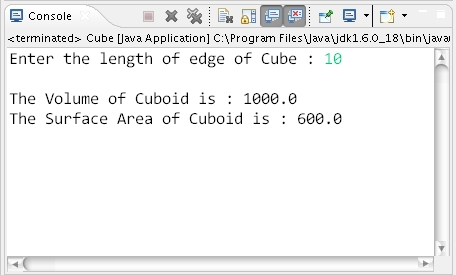 How to calculate volume and surface area of cube in java learn cube ccuart Image collections