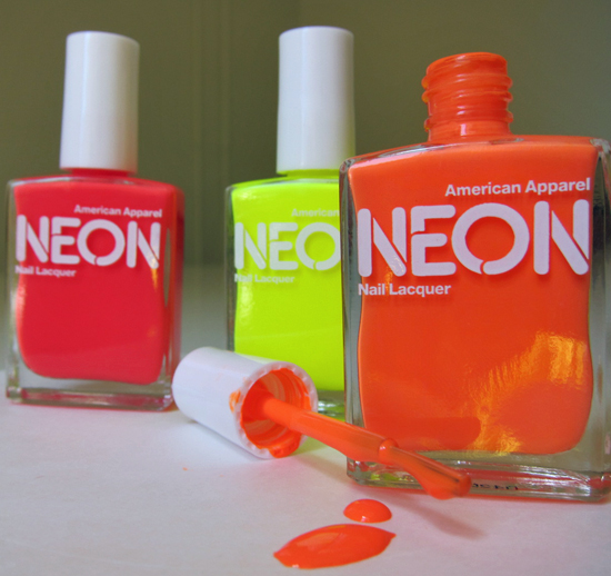 Why Does Neon Nail Polish Chip: LACE N LEOPARD: Neon Orange Nails