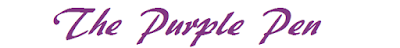 The words written in purple saying The Purple Pen about editing writing
