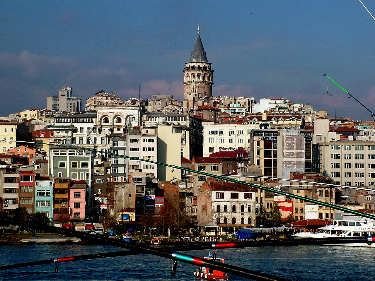 Galata Tower from Golden Horn Bridge