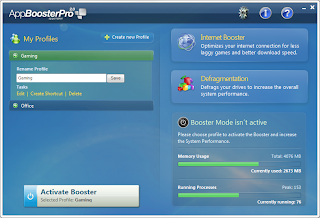 AppBooster Pro interface