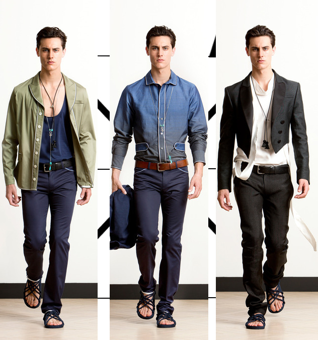 alexis mabille mens spring 2014 blue pants