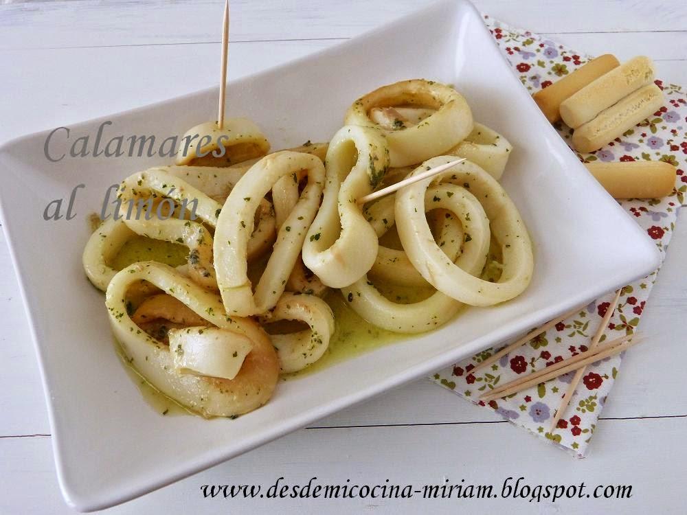 Calamares al limón en Thermomix, calamares