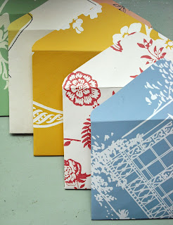 Pretty Handmand Envelopes