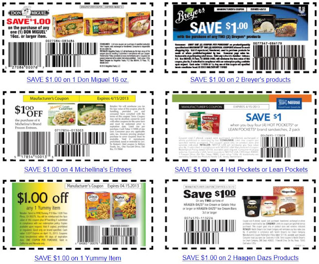 Discount coupons on food