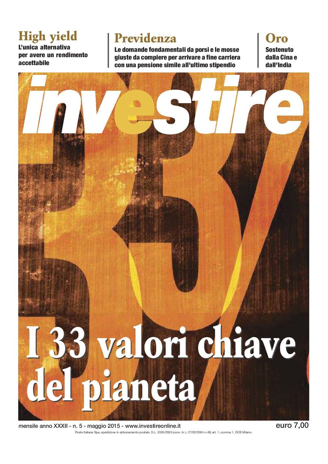 Mensile Investire di maggio 2015.