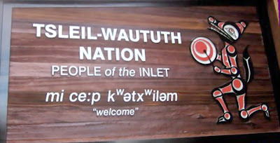 Tsleil- Waututh Nation welcoming plaque