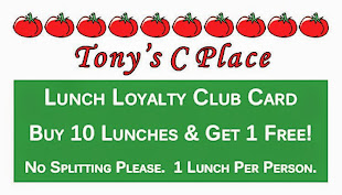 Our New Lunch Loyalty Club Cards!