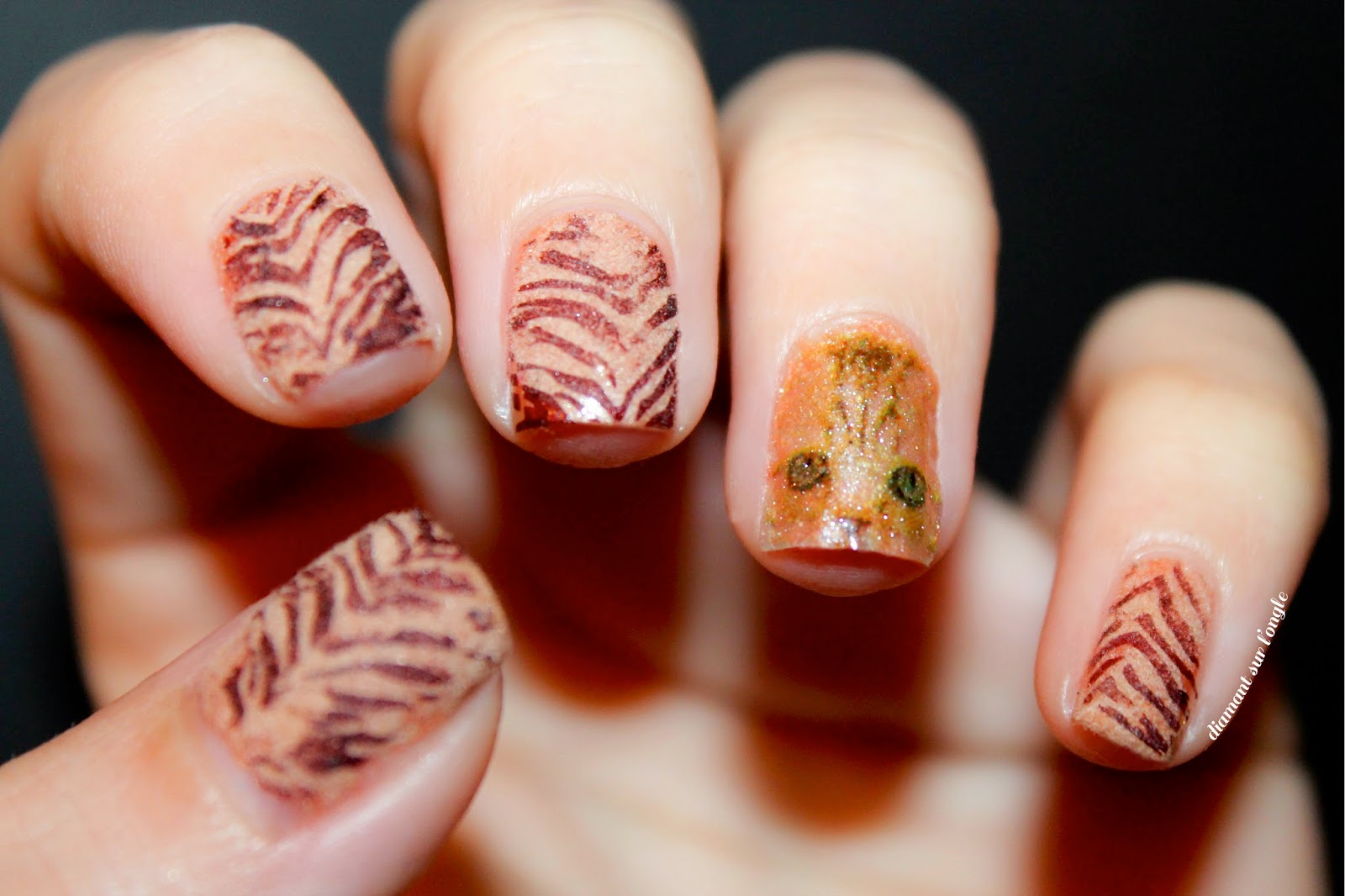 Kitty Inspired Nail Art