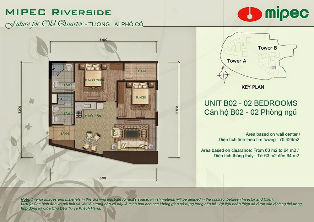 Căn B02 cư xá Mipec Riverside