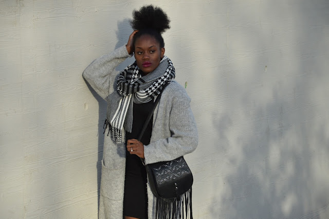 Blog mode afro, blog mode marseille, look, écharpe primark, coiffure afro, gilet long