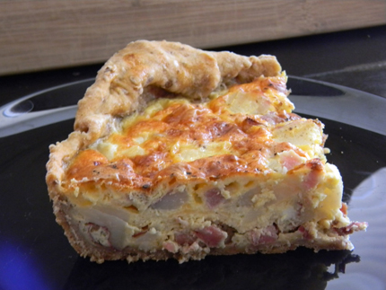 Red Potato and Ham Quiche with Acorn Crust