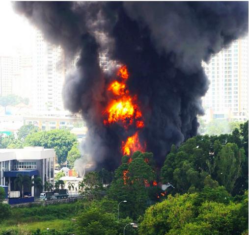 kebakaran bandar kinrara