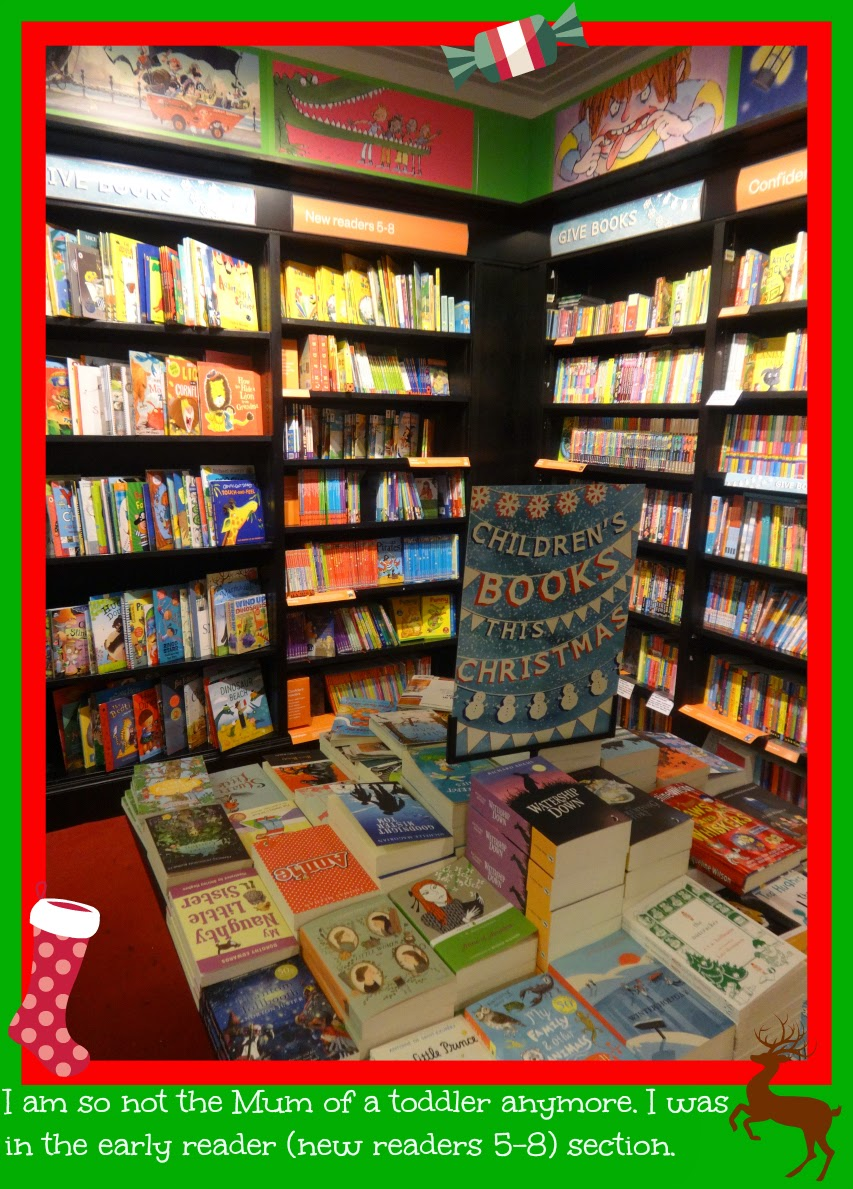 Layout of the childrens corner of waterstones