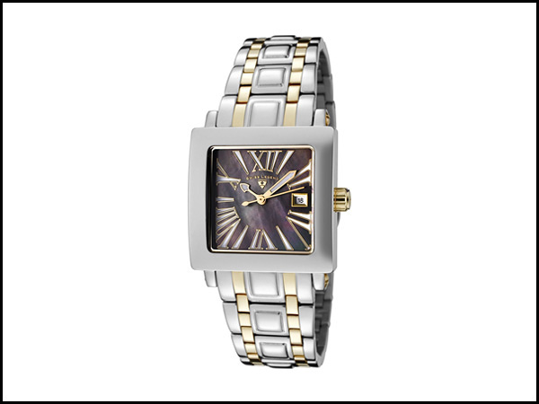 Swiss Legend Women's 20024-SG-01MOP Colosso Black Mother-of-Pearl Dial Two-Tone Stainless Steel Watch