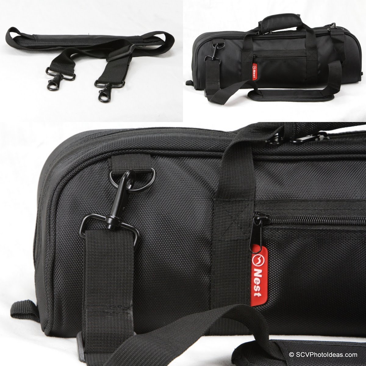 Nest NT-6294CT carrying case and strap buckle details