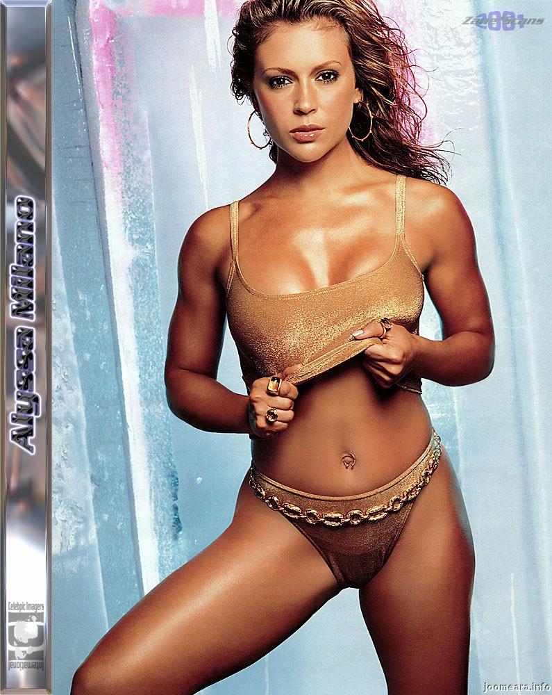Alyssa milano in a bikini