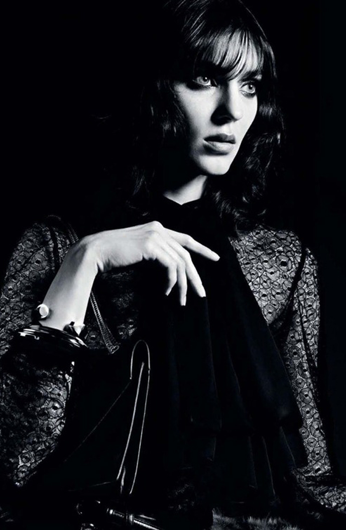 Kati Nescher photographed by Hedi Slimane for Saint Laurent Fall/Winter 2012 campaign via Fashioned by Love British fashion blog