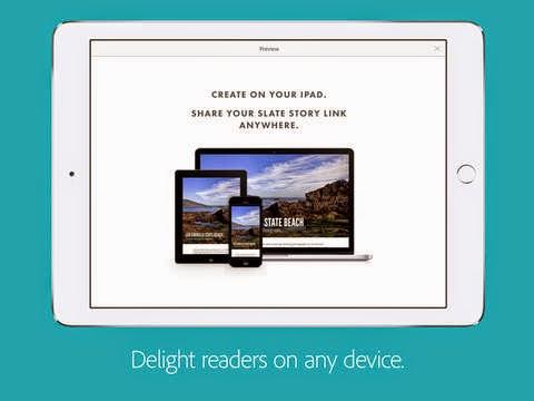 إنشاء عروض تقديمية بتطبيق Adobe Slate بسهولة على آيباد