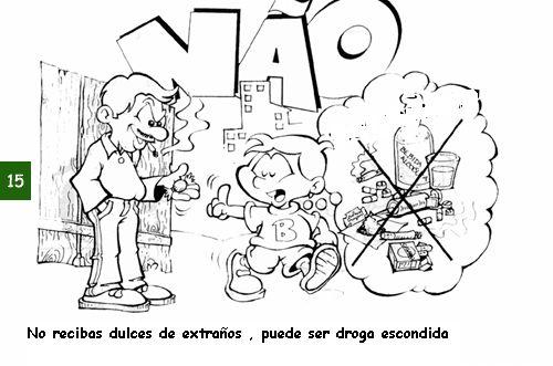 """Divertida: Prevención sobre las Drogas """"Imágenes para colorear"""