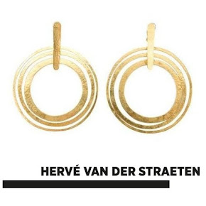 HERVE VAN DER STRAETEN Earrings - NATAN Dress Queen Mathilde Style