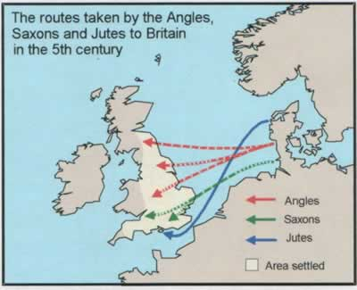 a comparison of the celtic tribes and the saxons in 5th century europe