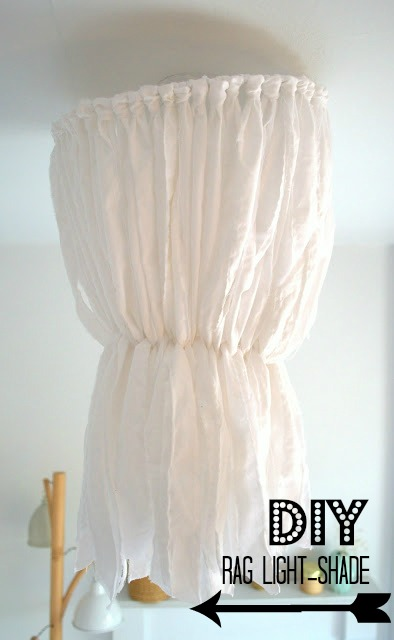 DIY rag lightshade