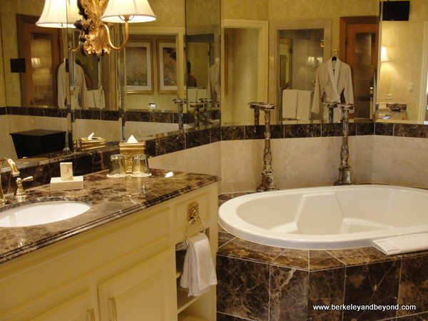 guest suite bathroom at B&B Ristorante in The Venentian in Las Vegas