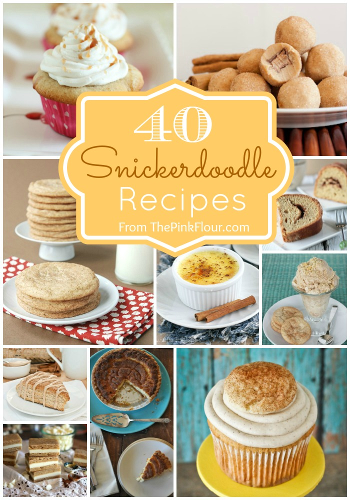 40 amazing Snickerdoodle Recipes from your favorite food bloggers