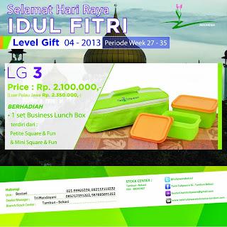 level gift tulipware juli - agustus 2013