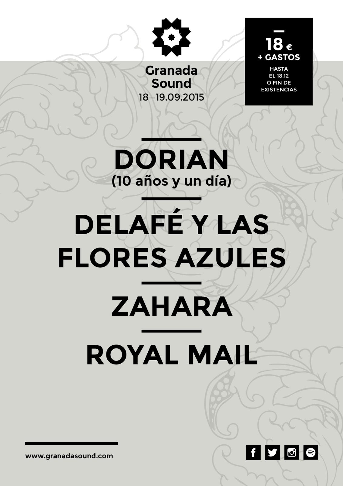 Granada Sound Festival 2015 cartel
