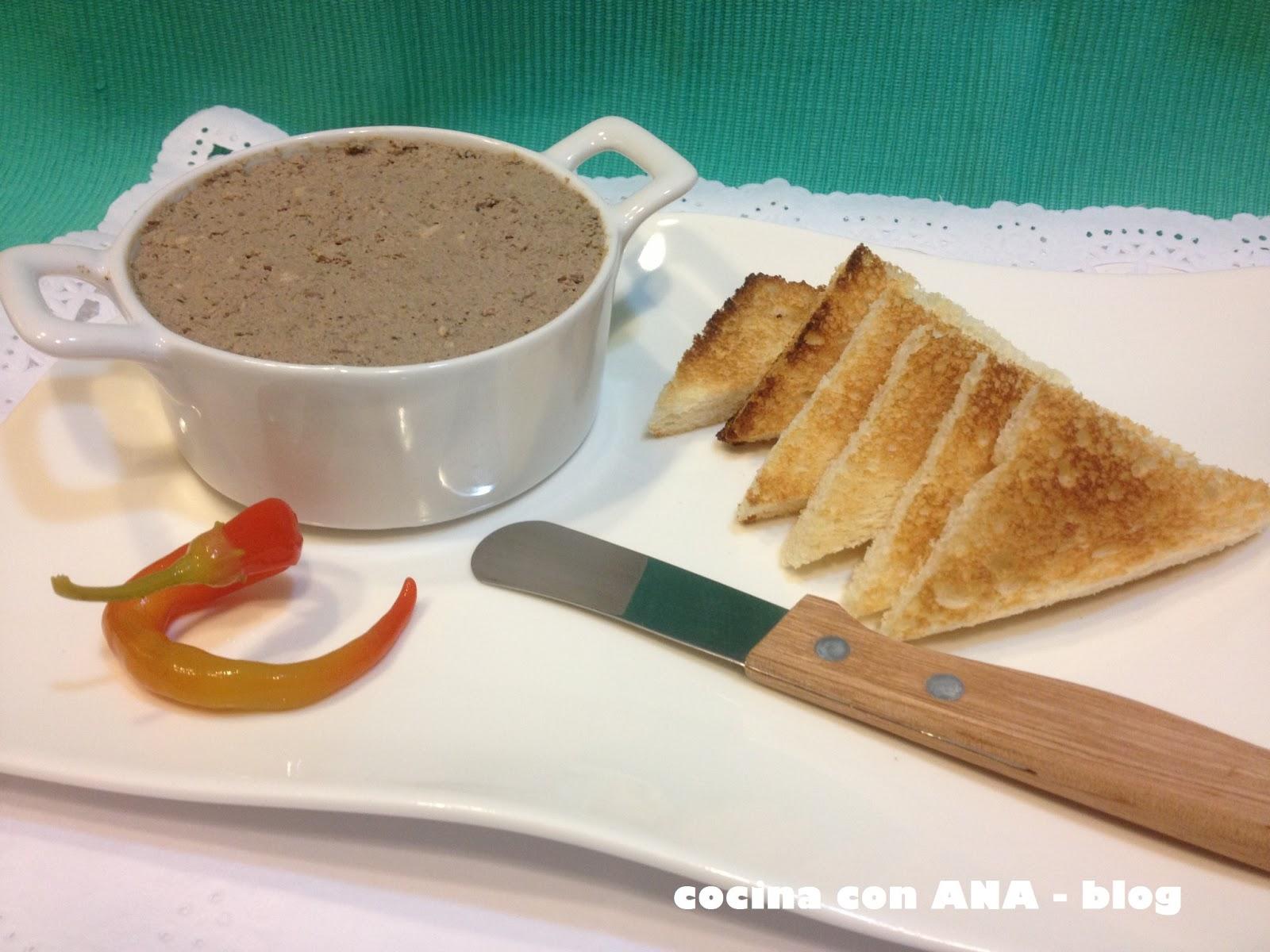 Cocina con ana pate casero de higaditos de pollo - Ana cocina facil ...