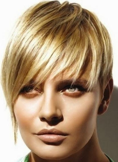 corte pelo corto para cara redonda