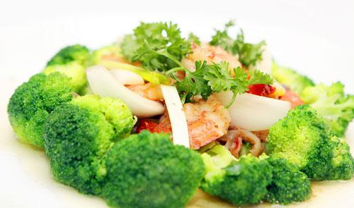 Kết quả hình ảnh cho bông cải xanh xào tôm