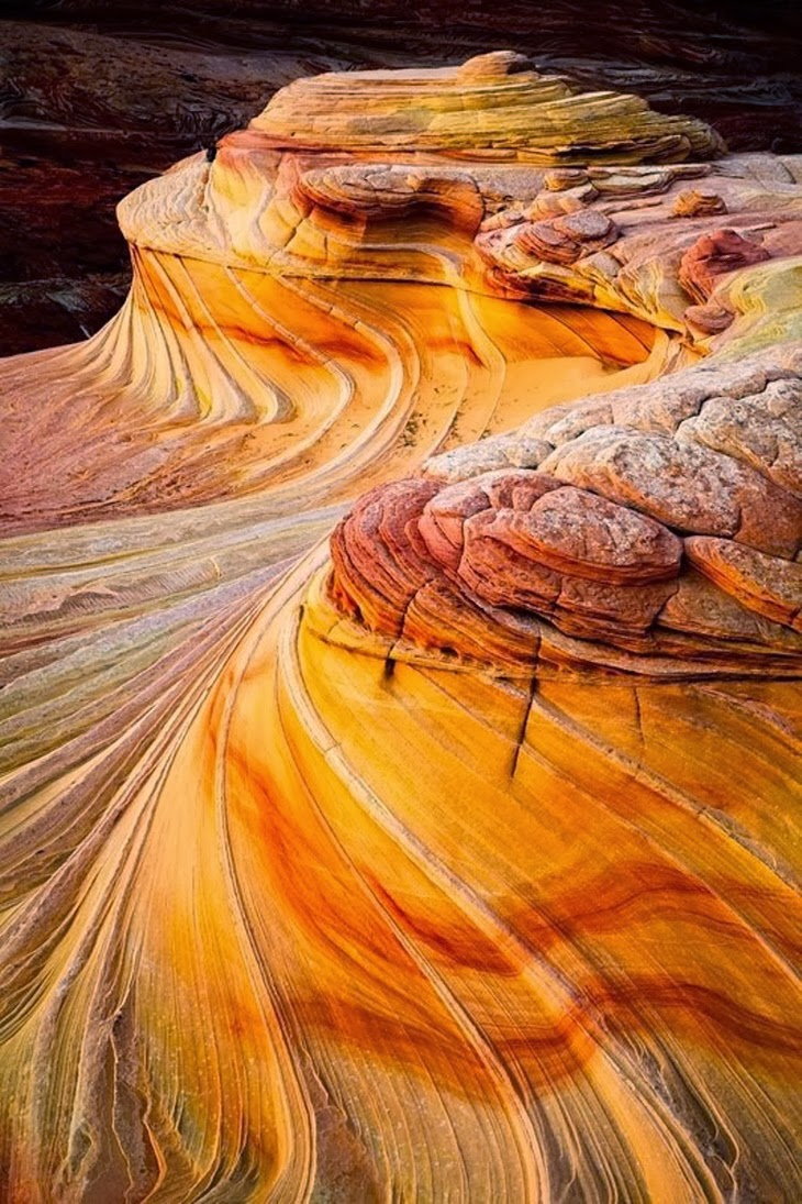 The Wave, Paria Canyon-Vermilion Cliffs, Arizona, USA.