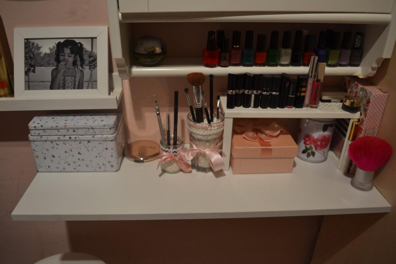 My life in pink diy tocador organizador maquillaje ikea - Mesa tocador ikea ...