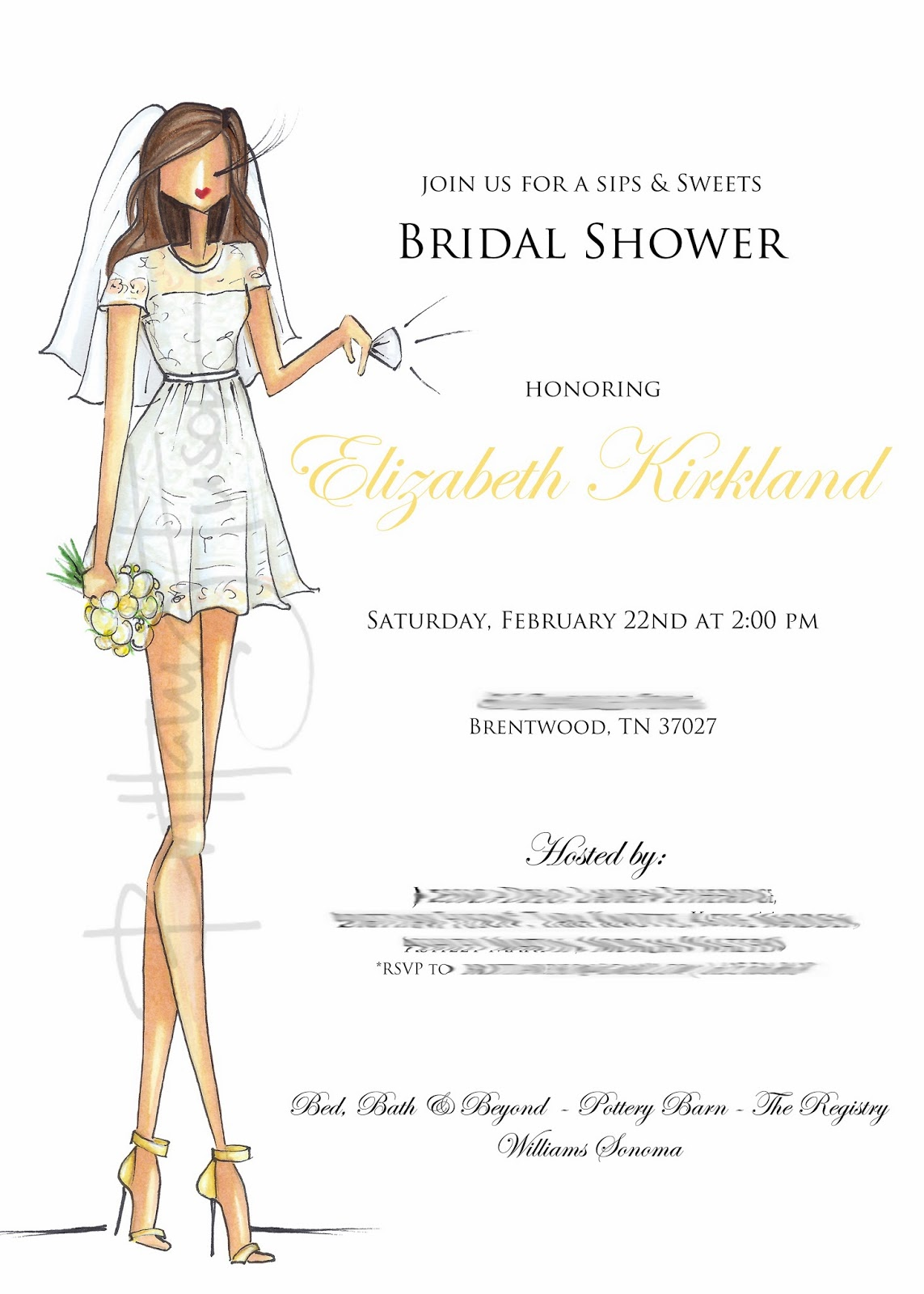 Brittany Fuson: Custom Bridal Shower Invitations