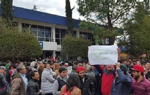 Estudiantes, protesta