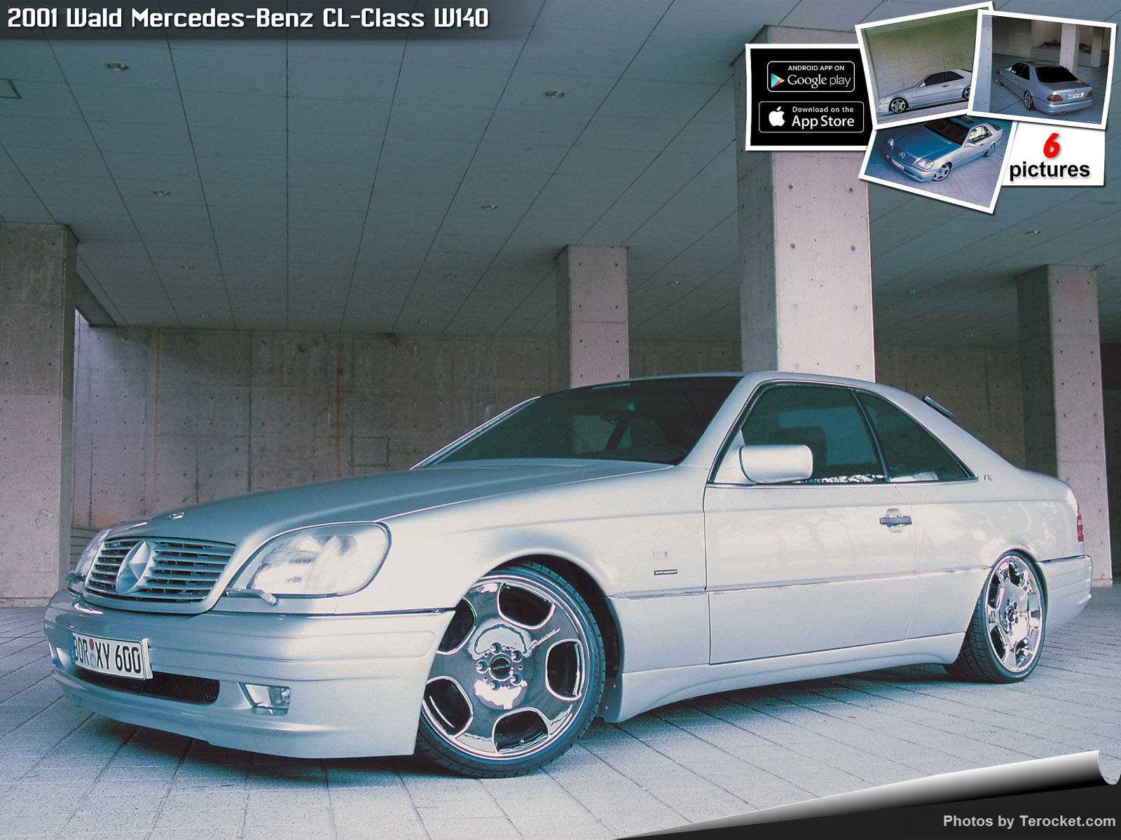 Hình ảnh xe độ Wald Mercedes-Benz CL-Class W140 2001 & nội ngoại thất