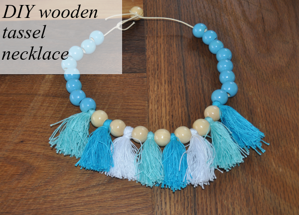 diy wooden tassel necklace