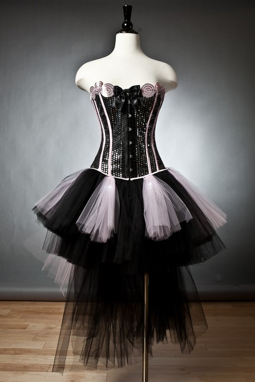 fashion design burlesque style prom and cocktail dresses
