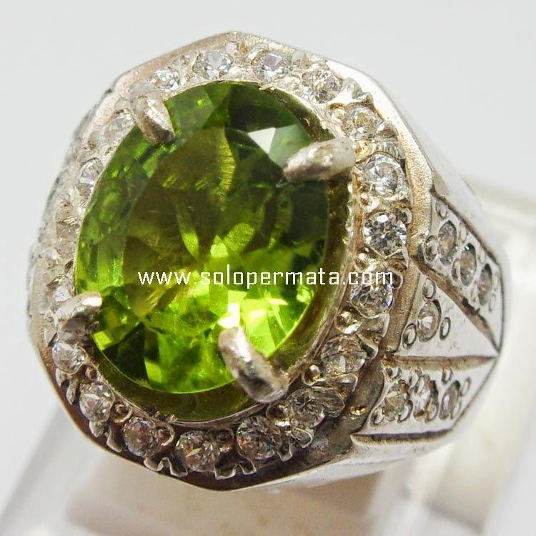 Cincin Batu Permata Green Peridot