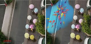 لوحات ملونة، عالم الغرائب، هطول المطر