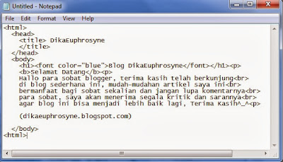 code Tag Body HTML