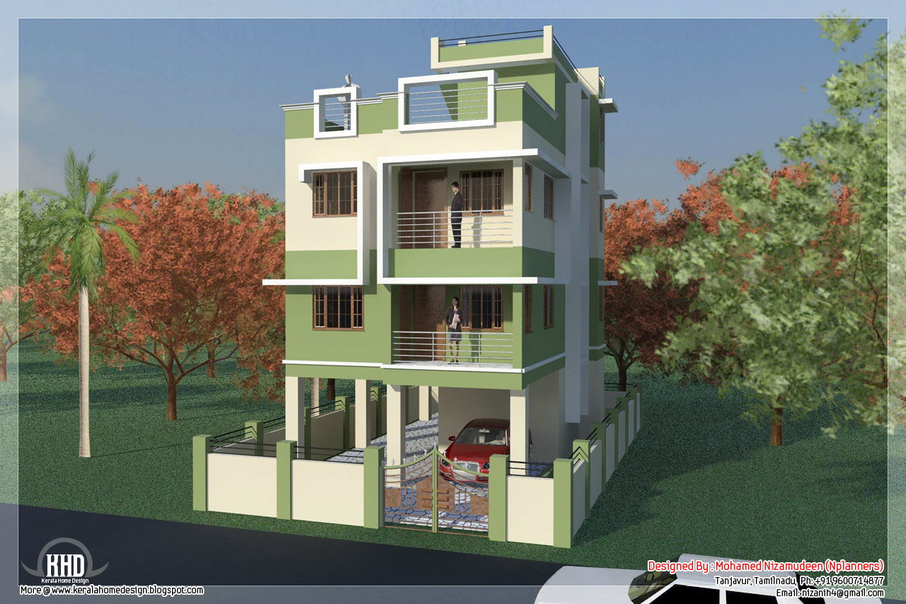. feet South Indian house design - Kerala home design and floor plans