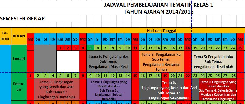 Berbagi Jadwal Pelajaran Sd Mi Kelas 1 2 4 5 Kurikulum 2013 Menyongsong Tahun Ajaran 2014 2015