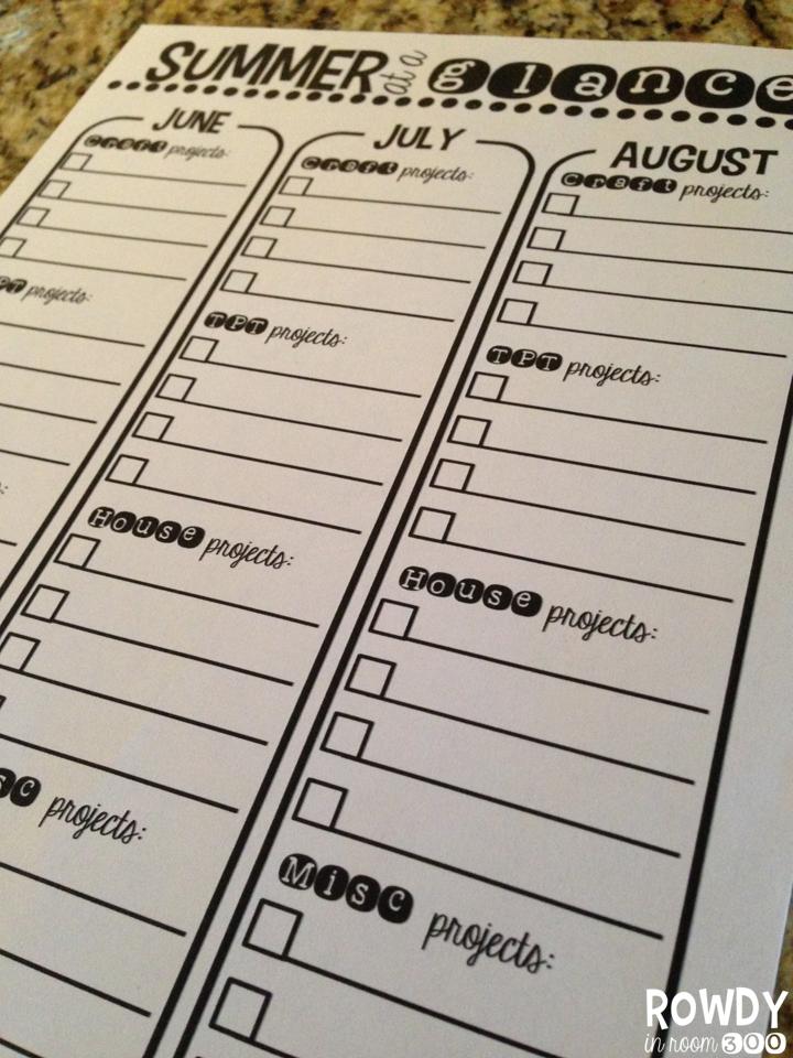 http://www.teacherspayteachers.com/Product/Stay-Organized-Summer-FREE-calendar-and-checklists-252983